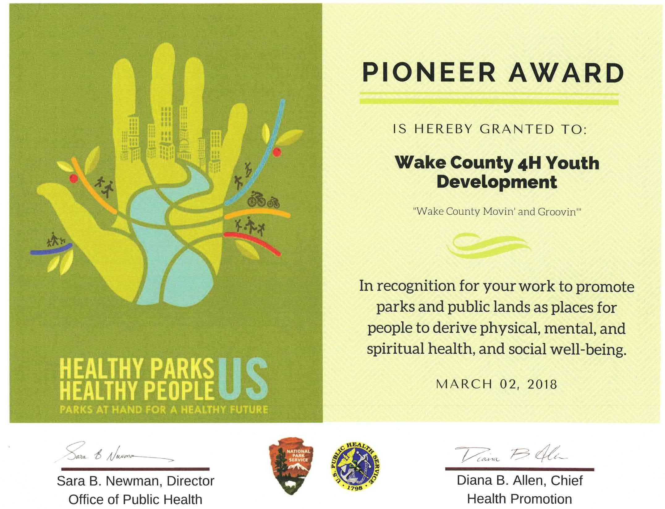 Pioneer Award flyer image