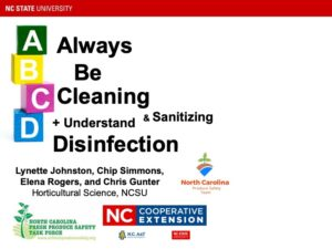 Cover photo for Always Be Cleaning & Sanitizing + Understanding Disinfection Webinar.
